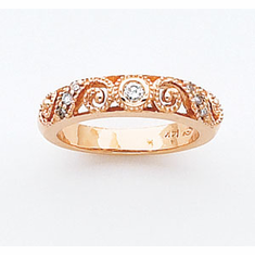 14k Rose Gold Anniversay Band