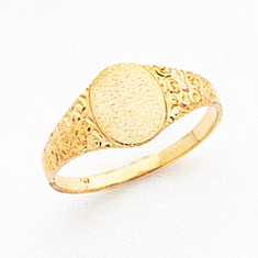 14K SIGNET Ladies  RING