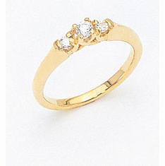 14K Three Stone Diamond Ring , 50% off plus free shipping