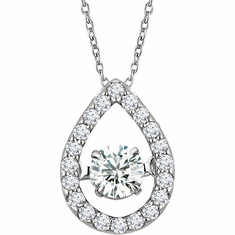 "14K White 1/3 CTW Diamond 16-18"" Mystara® Necklace"