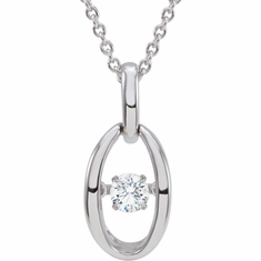 "14K White 1/6 CT Diamond 18"" Mystara® Necklace"