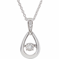 "14K White 1/6 CTW Diamond 18"" Mystara® Necklace"