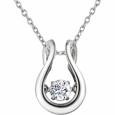 "14K White 1/6 CTW Diamond Mystara® 18"" Necklace"