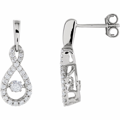 14K White 3/8 CTW Diamond Infinity-Inspired Mystara® Earrings