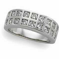 14k White Gold 1 1/4 ct tw Diamond Anniversary Band