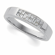 14k White Gold 1ct tw Diamond Anniversary Band