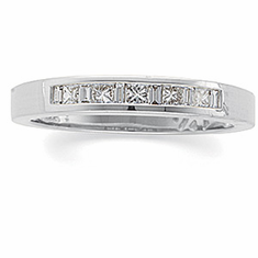 14k White Gold Diamond Bridal Anniversary Band