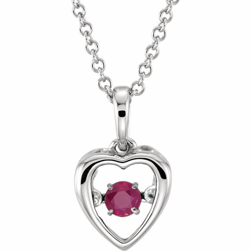 "14K White Ruby 18"" Mystara® Necklace"