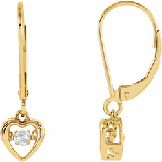 14K Yellow 1/6 CTW Diamond Heart Mystara® Earrings