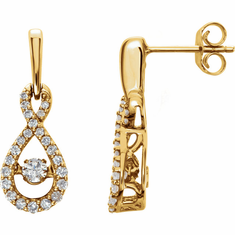 14K Yellow 3/8 CTW Diamond Infinity-Inspired Mystara® Earrings