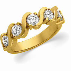 14k Yellow Gold 1ct. Diamond Anniversary Band