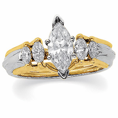 14k Yellow Gold 3/8CT TW Diamond Bridal Ring Enhancer