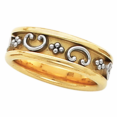 14K Yellow Gold ETRUSCAN Anniversary Band