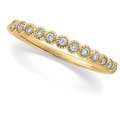 14k Yellow or Rose Gold Diamond Anniversary Band