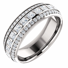 "60% off Platinum 1 3/4 CTW Diamond Eternity Band, Free 32"" TV with purchase"