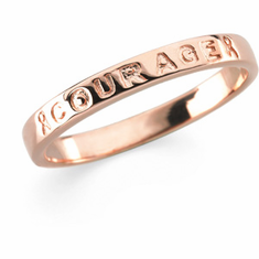 "Breast Cancer Awareness ""Courage"" Ring"