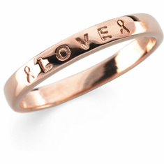 "Breast Cancer Awareness ""Love"" Ring"