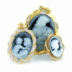 Cameo Pendants and Pins