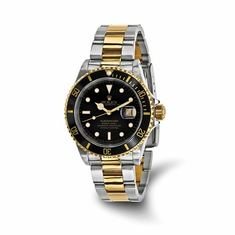 Certified Pre-owned Men's Rolex Submariner Black Dial Watch
