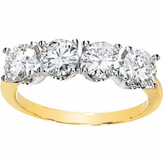 Charles & Colvard™ 2 Carat Created Moissanite 14k Gold Ring