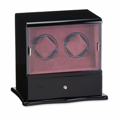 Choose A Black, Dark Maple, Dark Burlwood, Blonde Burlwood or Cherry Matte  Finish Vertical Double Watch Winder