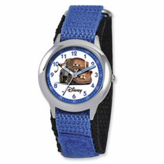 Disney Cars Mater Blue Velcro Band Time Teacher Watch