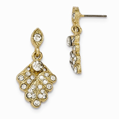 Downton Abbey Crystal Pavé Fan Post Earrings