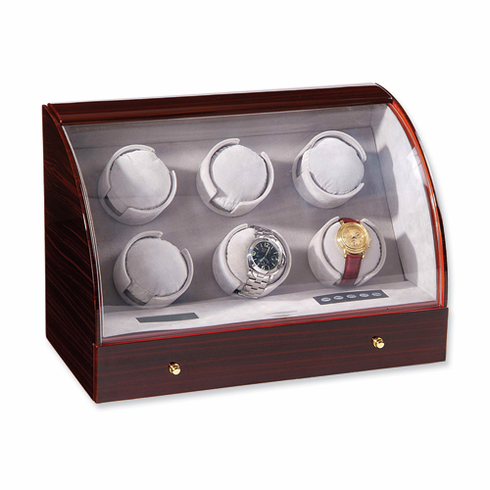 Ebony Gloss Finish 6-Watch Watch Winder