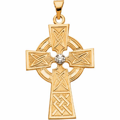 Gold or Sterling Silver Claddagh and Celtic Crosses
