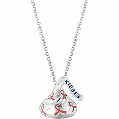 HERSHEY'S KISSES Breast Cancer Awareness Necklace