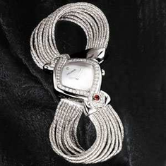 INFINITY LADIES DIAMOND WATCH W/STERLING BAND