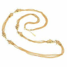 JAckie Kennedy 36in Lion Head Multi-strand Necklace by Camrose and Kross