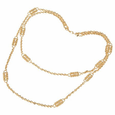 Jackie Kennedy Dual Chain and Station Necklace by Camrose and Kross