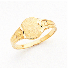 Ladies 14K Gold Engraveable  SIGNET RING