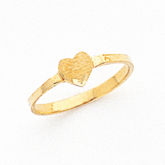 Ladies 14K  Small HEART SIGNET RING