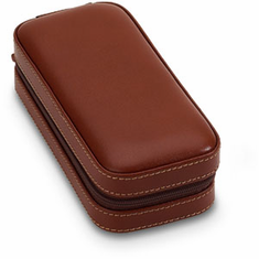 Leather Double Watch Case