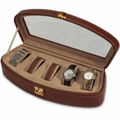 LEATHER WATCH CASE-SHELL SHAPE