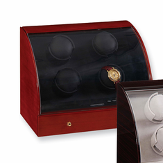 Mahogany Solid Wood 4-Watch Watch Winder