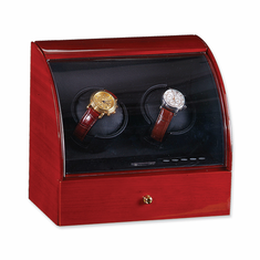 Mahogany Solid Wood Double Watch Winder
