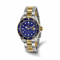 Men's Pre-Owned Rolex Submariner Blue Dial Watch