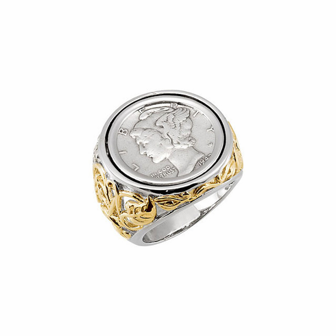Mercury Dime Ring