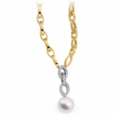 Paspaley South Sea Cultured Pearl & Diamond 18 inch Necklace