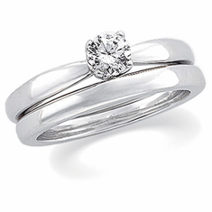 Platinum 1/2 Ct. Diamond Solstice Solitaire® with Bombé Shank