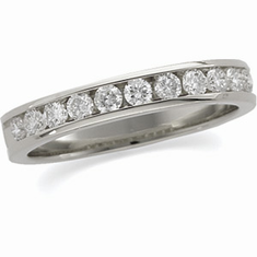 Platinum 1/2 ct tw Round Cut Diamond Anniversary Band