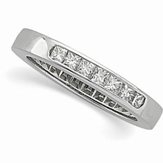 Platinum 1/3 CT Princess Anniversary Band