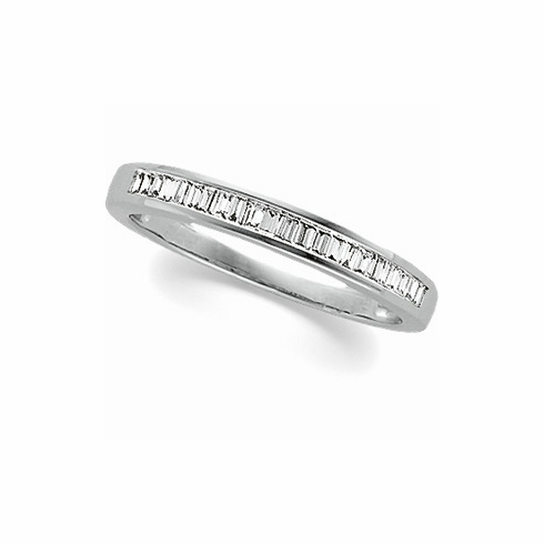 Platinum 1/4 ct tw Baguette Anniversary Band