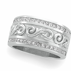 Platinum 1 ct tw Princess Cut Diamond Anniversary Band, Great Investment
