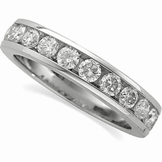 Platinum 1 ct tw Round Cut Diamond Anniversary Band