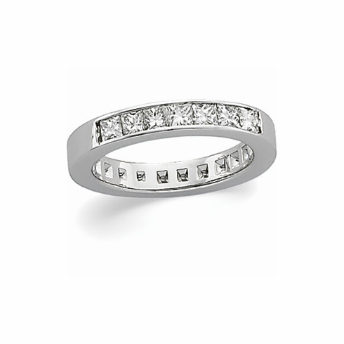 Platinum 3/4 ct tw Diamond Anniversary Band