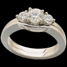 Platinum 3/8 Ct. Diamond Engagement Ring